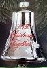 1983 25th Christmas Together Silver Glass Bell