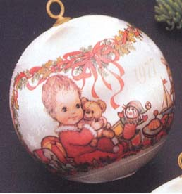 1977 Babys First Christmas Ball NB Hallmark Ornament at