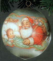Home > Hallmark Ornaments - Years > 1980 Hallmark Ornaments > Family &  Friends > 1980 Baby's First Christmas Ball (MIB)