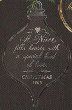1985 Niece Acrylic Hallmark Ornament At Ornament Mall