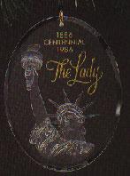 1986 Statue Of Liberty Acrylic Nb Hallmark Ornament At