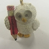 1990 Teacher Owl Miniature Ornament PROTOTYPE