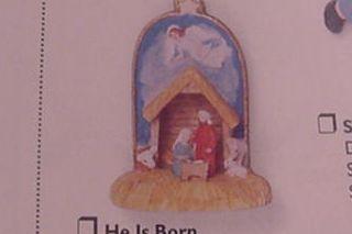 1997 He Is Born Miniature Hallmark Ornament At Ornament Mall