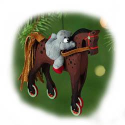 2001 A Pony For Christmas 4th Hallmark Ornament At