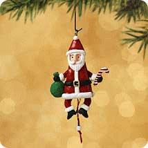 2002 Santa Jumping Jack Miniature Hallmark Ornament At