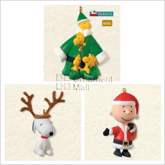 2008 Peanuts Full Of Christmas Spirit Set 3 Miniature