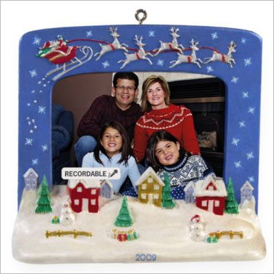 2009 Recordable Ornaments Christmas Village Photo Holder