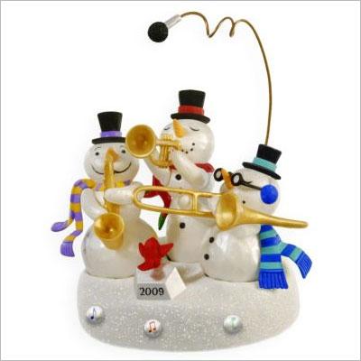 2009 Snowman Band Ornament Magic Hallmark Ornament At