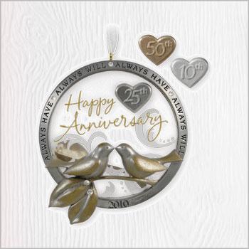 2010 Anniversary Celebration 10th 25th 50th Hallmark