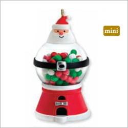2011 Gumball Santa Miniature Hallmark Ornament At