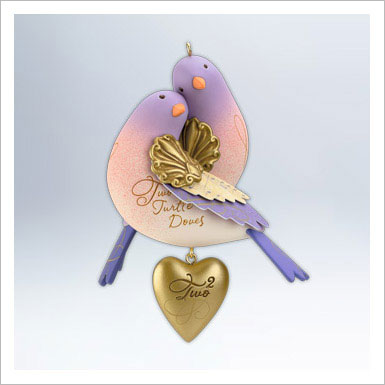 2012 Twelve Days of Christmas 2nd Two Turtle Doves-RECALLED ORNAMENT