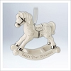 2012 Baby's First Christmas Porcelain Rocking Horse (NB)