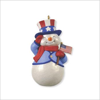 2012 Patriotic Snowman Hallmark Ornament At Ornament Mall