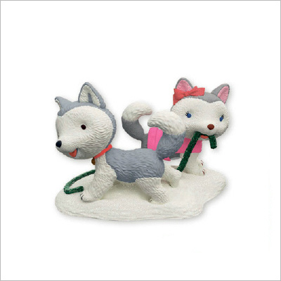 2013 Jingle And Bell The Husky Pups Hallmark Ornament At