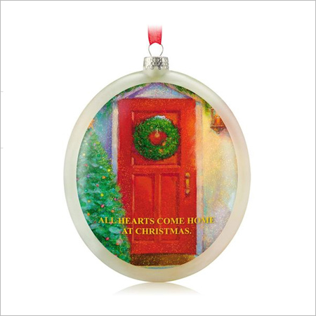 2014 Hearts At Home Glass Ball Hallmark Ornament At