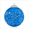 2014 Christmas Commemorative 2nd Blue Glass Ball