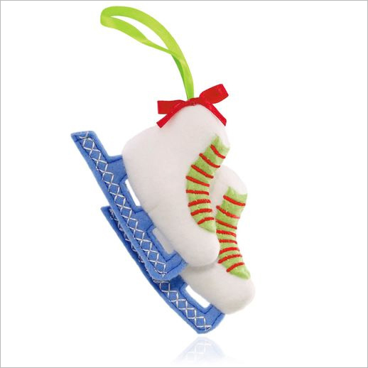 2015 Plush Ornament Skating Party Hallmark Ornament At
