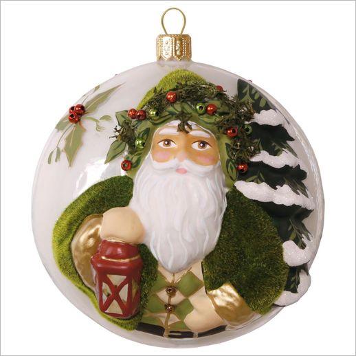 2016 Premium Evergreen Father Christmas Glass Hallmark