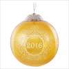 2016 Christmas Commemorative Ball 4th Gold