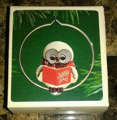 1983 Caroling Owl Hallmark Ornament At Ornament Mall