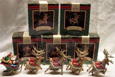 1992 Santa His Reindeer 1 Dasher Dancer Only