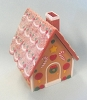 Merry Miniature Christmas Gingerbread House Container 1986