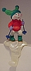 1989 Bunny on Skis Stocking Hanger