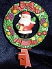 1982 Della Robia Wreath With Santa Stocking Hanger (NB)