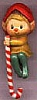 1984 Elf with Candy Cane Stocking Hanger