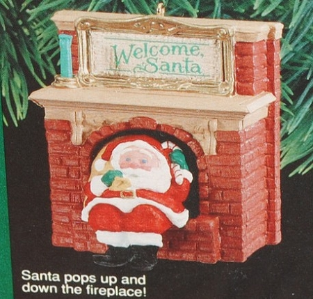 1990 Welcome Santa Nb Hallmark Ornament At Ornament Mall
