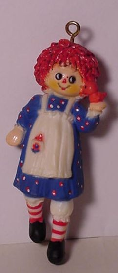 1975 Adorable Adornments Raggedy Ann (NB) SOME YELLOWING