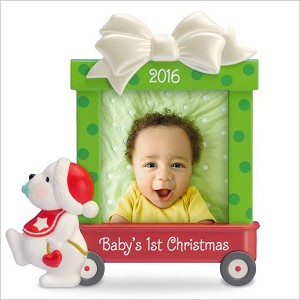 2016 Baby's First Christmas Beary Cute Photo Holder