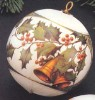 1978 Christmas Is *Antique Card Design Satin Ball  (NB)