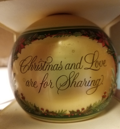 Hallmark Our First Christmas Ornament.1979 Our First Christmas Together Ball Sdb