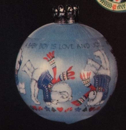 home hallmark ornaments years 1983 hallmark ornaments 1983 babys first christmas ball boy db