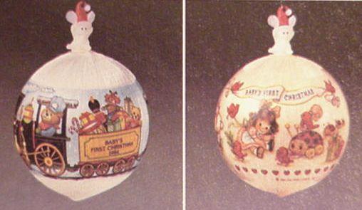 home hallmark ornaments years 1984 hallmark ornaments family friends 1984 babys first christmas satin ball girl db