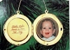 1986 Baby's First Christmas Gold Locket