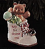 1996 Baby's First Christmas Bear In Shoe