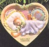 1997 Baby's First Christmas-Porcelain Heart
