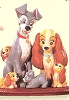 1999 Family Portrait Lady and the Tramp (SDB)