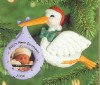2000 Baby's First Christmas-Photo Holder Stork