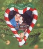 2000 Our First Christmas Together-Photo Holder Candy Cane Heart