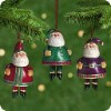 2001 Jolly Santa Bells-Set Of 3