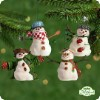 2001 Mitford Snowmen Jubilee-Set Of 4
