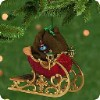 2001 Santa's Sleigh w/ Sack & Miniature Ornament