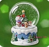 2007 Snow Buddies Snow Globe 10th Anniversary Table Topper