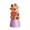 2012 Deerly Loved Cookie Gumdrop *Miniature *Purple Red Star