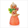 2013 One Sweet Gingerbread Boy Gumdrop *Miniature *Orange