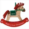 2017 Baby's First Christmas Rocking Horse