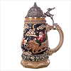 2018 Santa Takes Flight Beer Stein *Tabletop *Not an Ornament